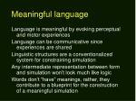 meaningful language
