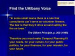 find the ualbany voice