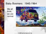 baby boomers 1945 1964
