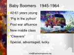 baby boomers 1945 19641