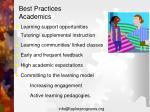 best practices academics