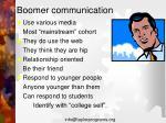 boomer communication