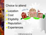 choice to attend