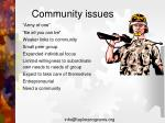 community issues