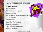 core messages images