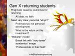 gen x returning students