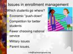 issues in enrollment management