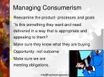 managing consumerism