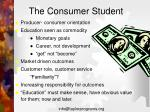 the consumer student