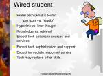 wired student
