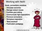 working with next