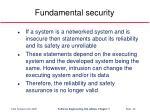 fundamental security