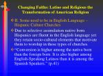 changing faiths latino and religious the transformation of american religion2