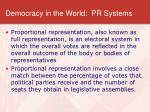 democracy in the world pr systems