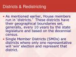 districts redistricting
