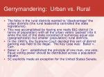 gerrymandering urban vs rural