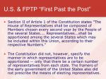 u s fptp first past the post