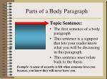 parts of a body paragraph
