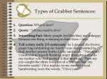 types of grabber sentences
