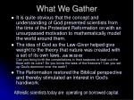 what we gather