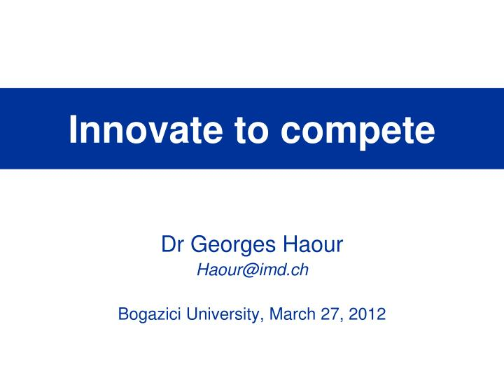 innovate to compete n.
