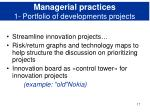 managerial practices 1 portfolio of developments projects