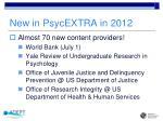 new in psycextra in 2012