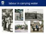labour in carrying water