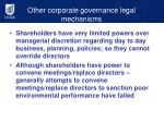 other corporate governance legal mechanisms