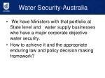 water security australia