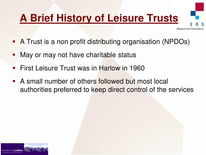 A Brief History of Leisure Trusts