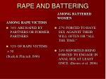 rape and battering