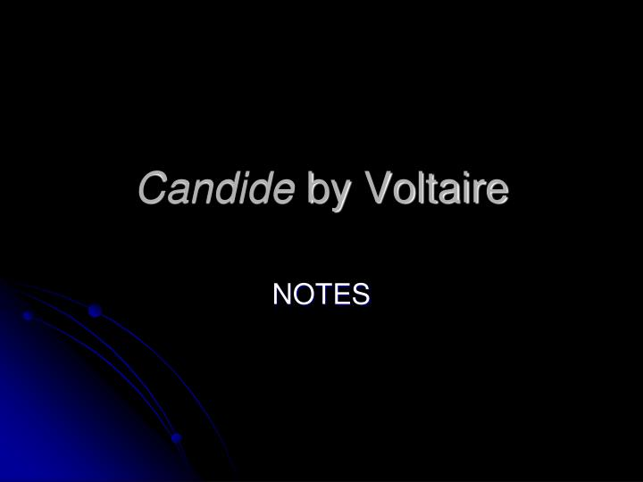 candide by voltaire n.