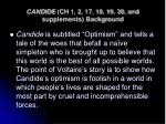 candide ch 1 2 17 18 19 30 and supplements background