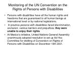 monitoring of the un convention on the rights of persons with disabilities1