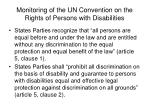 monitoring of the un convention on the rights of persons with disabilities7