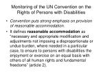 monitoring of the un convention on the rights of persons with disabilities8