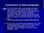 commentary on ibsen paragraphs