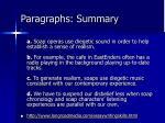 paragraphs summary