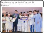 awarded with rajiv gandhi award for excellence by mr janik darbari sh nagmani