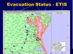 evacuation status etis