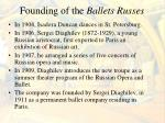 founding of the ballets russes