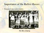 importance of the ballets russes