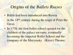 origins of the ballets russes