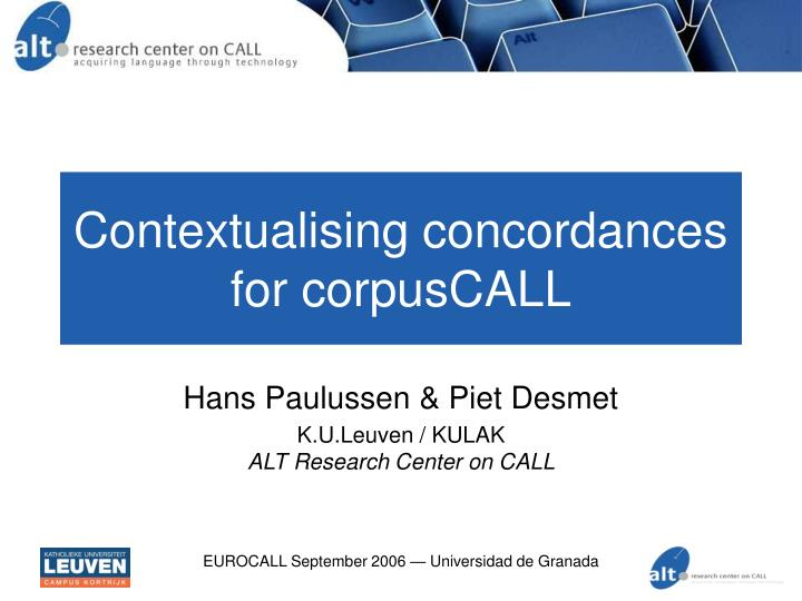 contextualising concordances for corpuscall n.