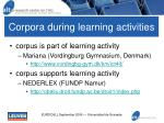 corpora during learning activities