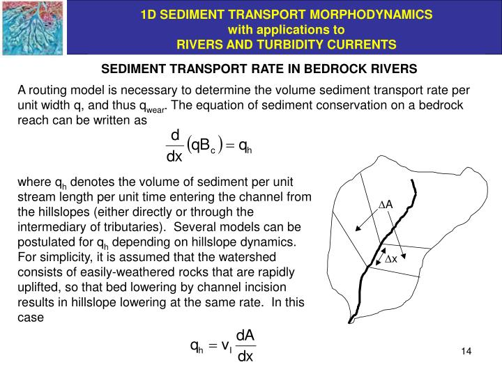 SEDIMENT TRANSPORT RATE IN BEDROCK RIVERS