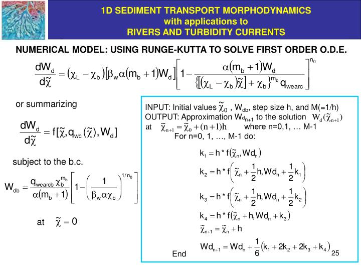 NUMERICAL MODEL: USING RUNGE-KUTTA TO SOLVE FIRST ORDER O.D.E.