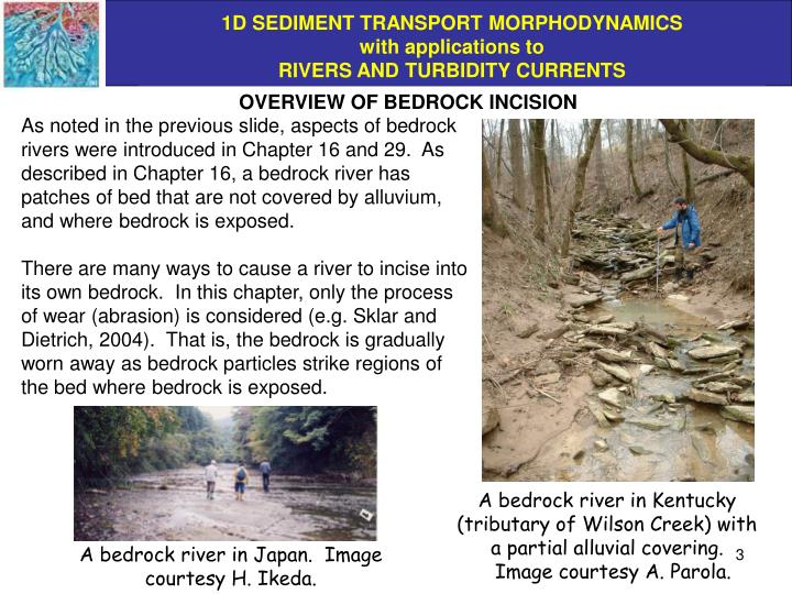 OVERVIEW OF BEDROCK INCISION