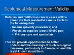 ecological measurement validity